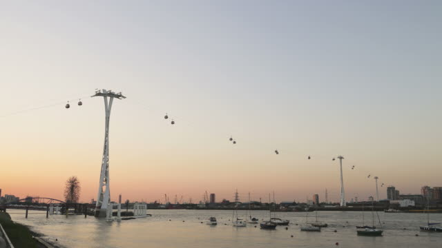 North Greenwich cable car timelapse. London