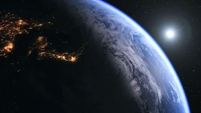 north korea and japan seen from space - zoom in stock videos & royalty-free footage