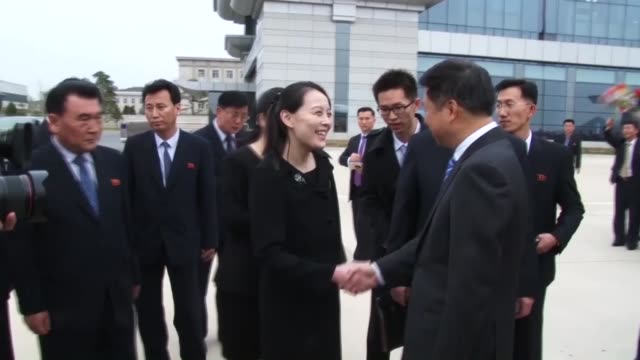 a chinese art troupe led by a senior chinese communist party official arrived in north korea on friday amid improving ties between the neighboring... - communist party stock videos and b-roll footage