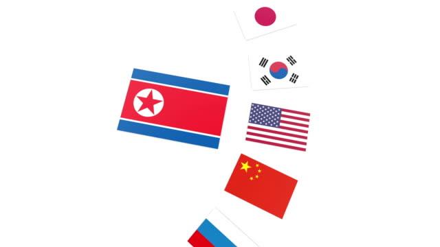 北朝鮮の競合 - 韓国点の映像素材/bロール