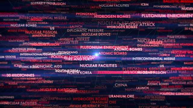 north korea crisis terms - alertness stock videos & royalty-free footage