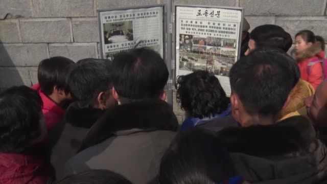 citizens in pyongyang on wednesday expressed hope for a successful second meeting between their leader kim jong un and us president donald trump with... - 首脳会議点の映像素材/bロール