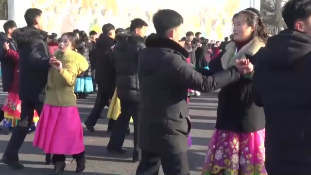 north korean citizens visit mansu hill in pyongyang on feb 16 celebrating the birthday of the late leader kim jong il the father of current leader... - north korea stock videos & royalty-free footage