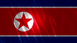 North Korea Flag Loopable Animation