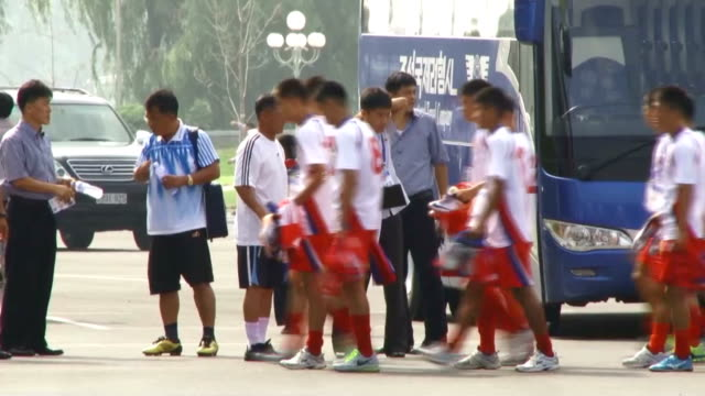 North Korea hosted as scheduled an international youth football competition as tensions with Seoul continued after mine explosions in the...