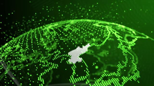 vídeos y material grabado en eventos de stock de animación de mapa de corea del norte de 4 k - fondo verde