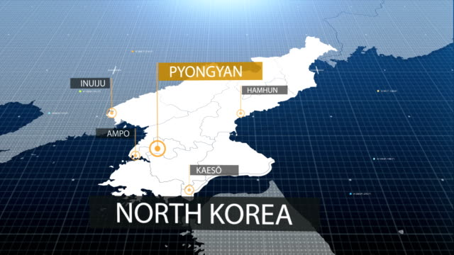 north korea map with label then with out label - north korea stock videos & royalty-free footage