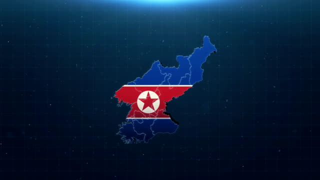 4k north korea map with national flag - taiwan stock videos & royalty-free footage