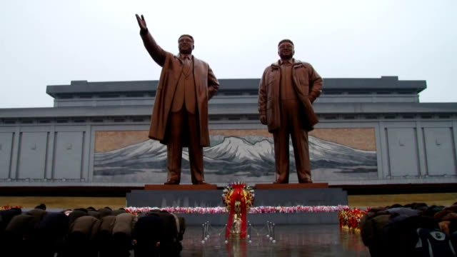 North Korea marked the 73rd birth anniversary of late leader Kim Jong Il on Feb 16 2015 Pyongyang citizens and military personnel visited Mansu Hill...