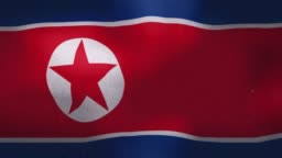 North Korea National Flag - Waving