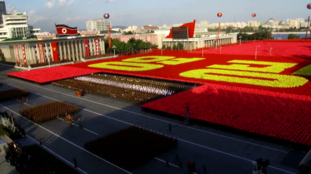 north korea on saturday staged a huge military parade marking the 70th anniversary of the founding of the ruling workers' party, as the international... - nuclear missile launch stock videos & royalty-free footage
