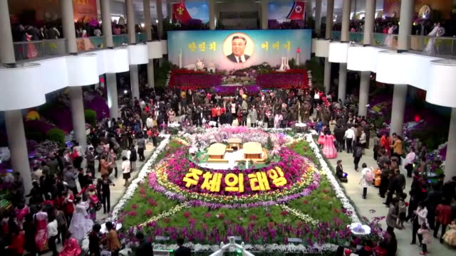 north korea on wednesday marked the 103rd anniversary of the birth of its late founder kim il sung in a jovial mood at a time when the outside world... - major military rank stock videos and b-roll footage