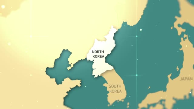 north korea on world map stock video - north korea stock videos & royalty-free footage