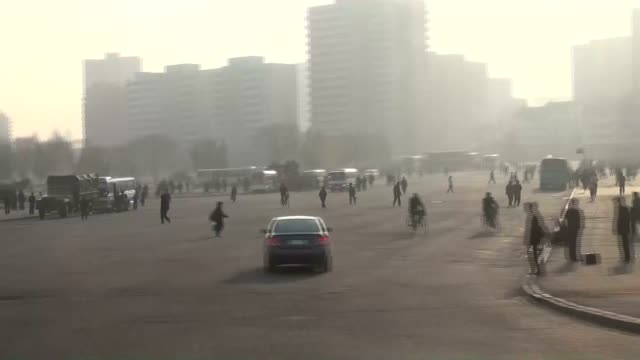 north korea recently held an expanded cabinet meeting and discussed matters such as promoting the exploration of natural uranium said to be abundant... - trolleybus stock-videos und b-roll-filmmaterial