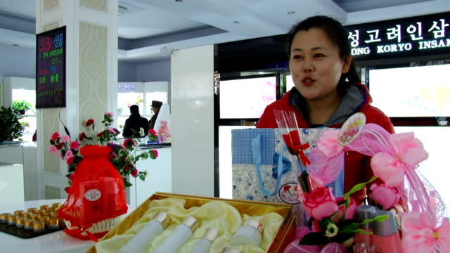 stockvideo's en b-roll-footage met north korea urged its countrymen to serve for the leadership under kim jong un in an event held here on the occasion of international women's day... - korea