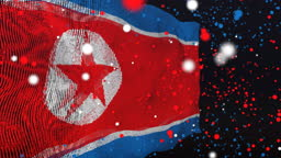 North Korean Flag Particle Animation