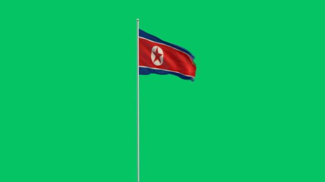 nordkoreanischer Flagge Rising