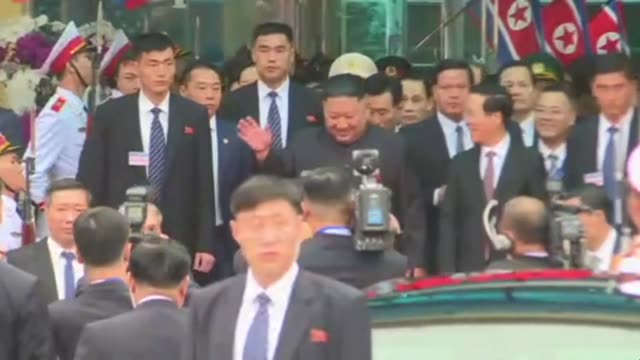 north korean leader kim jong un arrives by train in northern vietnam ahead of his second summit with us president donald trump in hanoi - north vietnam stock videos & royalty-free footage