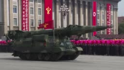 North Korean Leader Kim Jong-Un Attends 'Day of the Sun' Parade Admidst Rising Nuclear Tensions