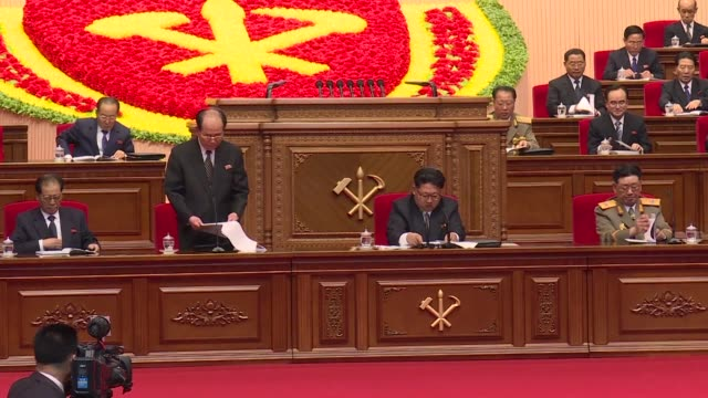 North Korean leader Kim Jong Un was Monday given a new title chairman of the Workers Party at a rare top level meeting of the ruling party