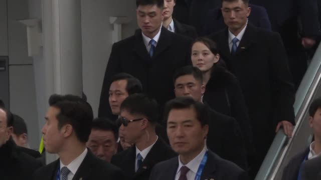 north korean leader kim jong un's sister landed in the south friday the first member of pyongyang's ruling dynasty to set foot in its rival since the... - korean war stock videos and b-roll footage