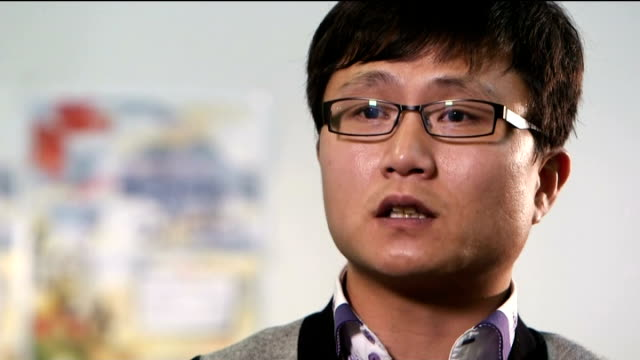 North Korean refugee living in Britain Song Ju Kim interview SOT leader of N Korea Kim Jongun is just over 30 years old / he's scared about his power...