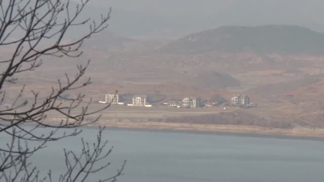 North Korean territory is seen from Odusan observatory in South Korea as both states begin their first official talks in more than two years...