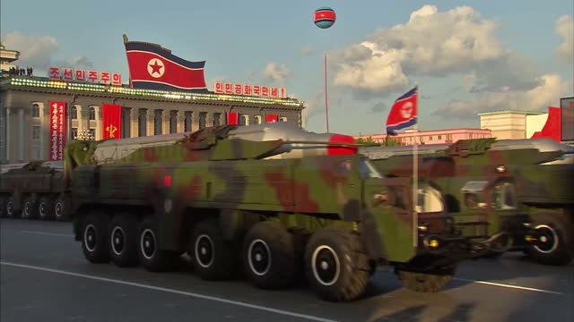 north korea's leader has delivered a defiant message to his people saying the country is ready to respond to 'any kind of war' against the united... - military parade stock videos & royalty-free footage
