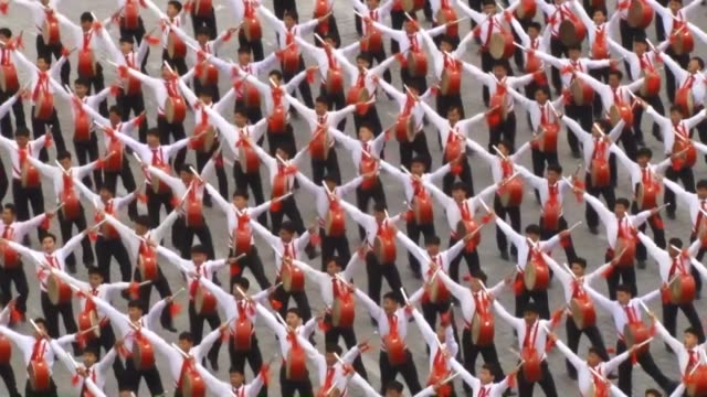 North Korea's leader Kim Jong Un appeared at a huge loyalty parade marking the end of the seventh Workers' Party of Korea congress in the country's...