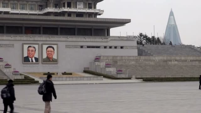 north korea's rodong sinmun newspaper the mouthpiece of the ruling workers' party of korea asserted in its article that there may be talks for... - 2013年 北朝鮮の核実験点の映像素材/bロール