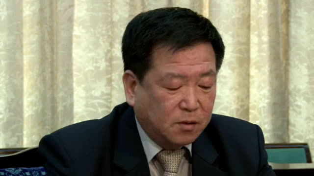vídeos y material grabado en eventos de stock de north korea's senior diplomat in charge of japan expressed a cautions stance towards japan's newly elected cabinet headed by prime minister yoshihiko... - prime minister