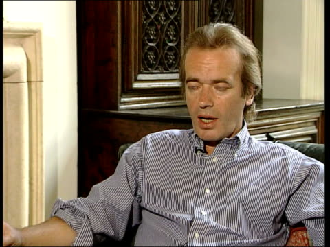 north london int martin amis interview sot - talks about being attacked after having operation / if you have trouble in your mouth then that is where... - father stock videos & royalty-free footage