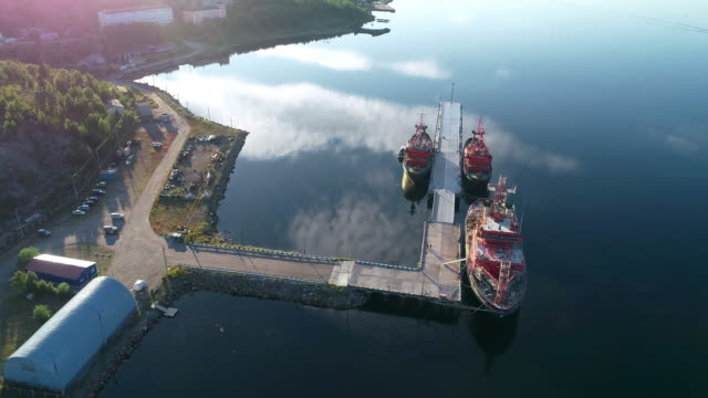 North Murmansk - industrial ship from the pier