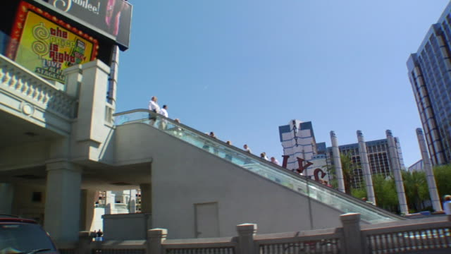 north on las vegas boulevard passing bally's cassino resort. the strip - bally's las vegas stock videos & royalty-free footage