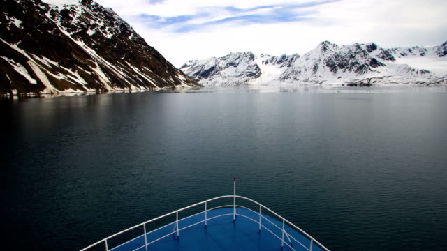 North pole- Sailing between icebergs, Svalbard Norway