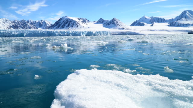 north pole- sailing between icebergs, svalbard - north pole stock videos & royalty-free footage
