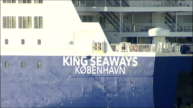 General views of King Seaways ferry at port ENGLAND Newcastle Port of Tyne International Passenger Terminal EXT People arriving at terminal / DFDS...