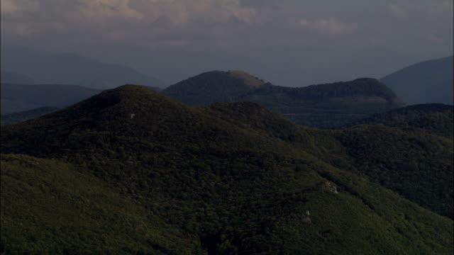 North Side Of the Pyrenees  - Aerial View - Midi-Pyrénées, Hautes-Pyrénées, Arrondissement de Bagnères-de-Bigorre, France
