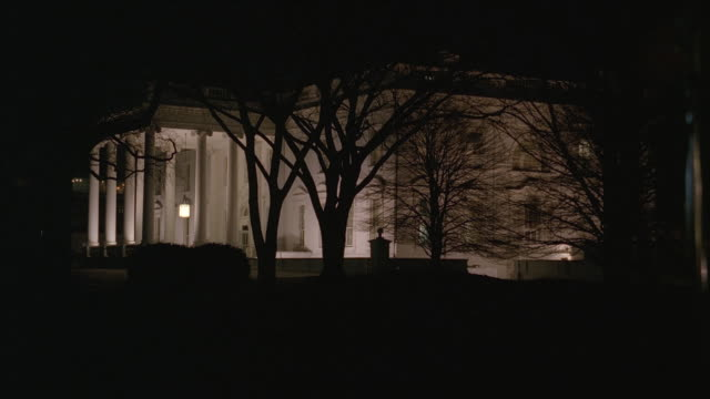 MS North side of White House at night / Washington, D.C., United States