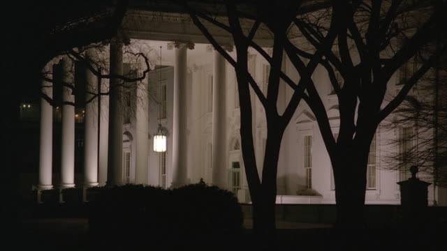 ms north side of white house entrance at night / washington, d.c., united states - 2000s style stock videos & royalty-free footage