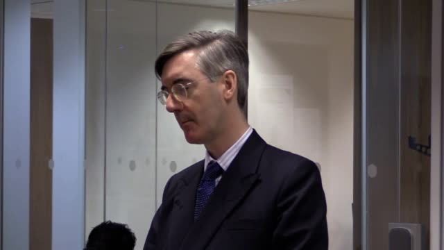 North Somerset MP Jacob ReesMogg speaks to postgraduate journalism diploma students at the Press Association in London He discusses the protest at...