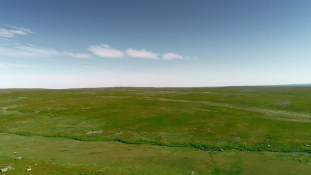 North Tundra Mountain Aerial Landscape