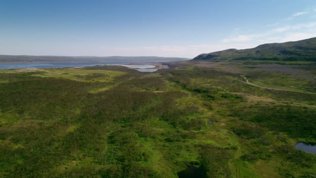north tundra mountain aerial landscape - prairie stock videos & royalty-free footage