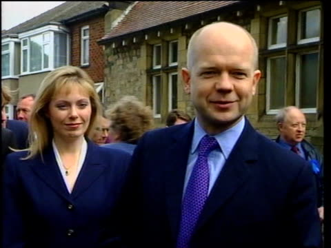 north yorkshire: catterick: william hague speaking to press sot - it wasn't very scary the pilot was in full control of situation / it has to be... - pilot fish stock videos & royalty-free footage