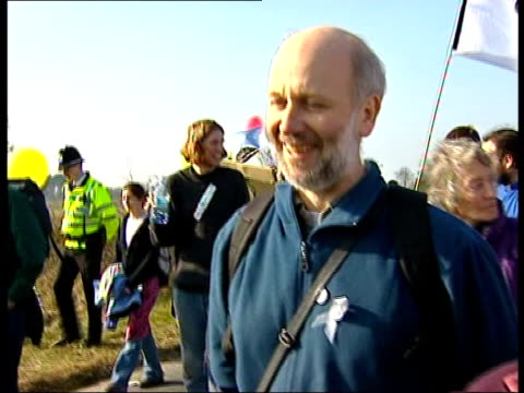 north yorkshire menwith hill us base ext gv balloons and silver foil affixed to perimeter fence at us tracking base bv protesters along by perimeter... - one tree hill stock videos and b-roll footage