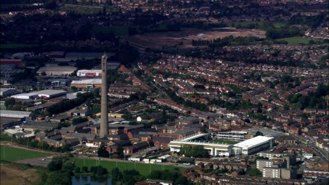 northampton  - aerial view - england, northamptonshire, northampton, united kingdom - northampton england stock videos & royalty-free footage