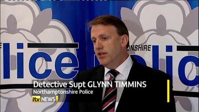 cctv images of suspect releaased england northamptonshire int detective superintendent glynn timmins press conference sot - northamptonshire stock videos and b-roll footage