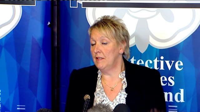 northamptonshire: int dci tricia kirk press conference sot - northamptonshire stock-videos und b-roll-filmmaterial
