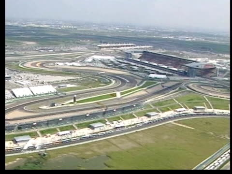 northamptonshire: silverstone: ext air view silverstone race track - silverstone stock videos & royalty-free footage