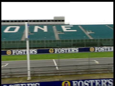 northamptonshire: silverstone: ext silverstone racing circuit london: heathrow airport: int cms formula one chieg bernie ecclestone and wife slavica... - silverstone stock videos & royalty-free footage